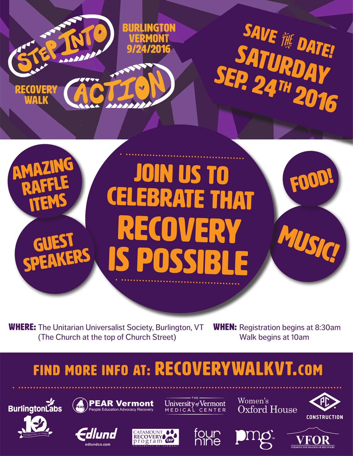 Recovery Walk in Burlington